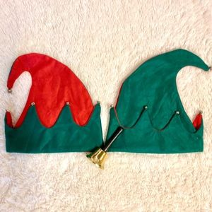 🔥 free w/ any purchase - two elf hats and a bell